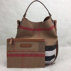 Burberry Hobo Canvas Bag 30x26cm